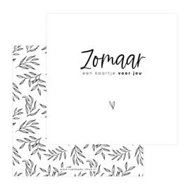 Dubbele Kaart • Zomaar een kaartje voor jou