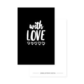 Minikaartje 85x55 • With love