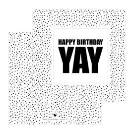 Dubbele Kaart • Happy birthday yay