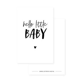 Minikaartje 85x55 • Hello little baby