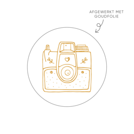 Sticker Camera • Rol 500 stuks • ø40mm