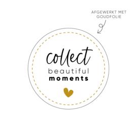 Sticker Collect beautiful moments  • Rol 500 stuks • ø40mm