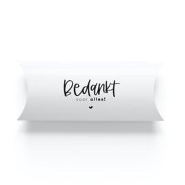 Geschenkverpakking • Bedankt voor alles! (per 5)