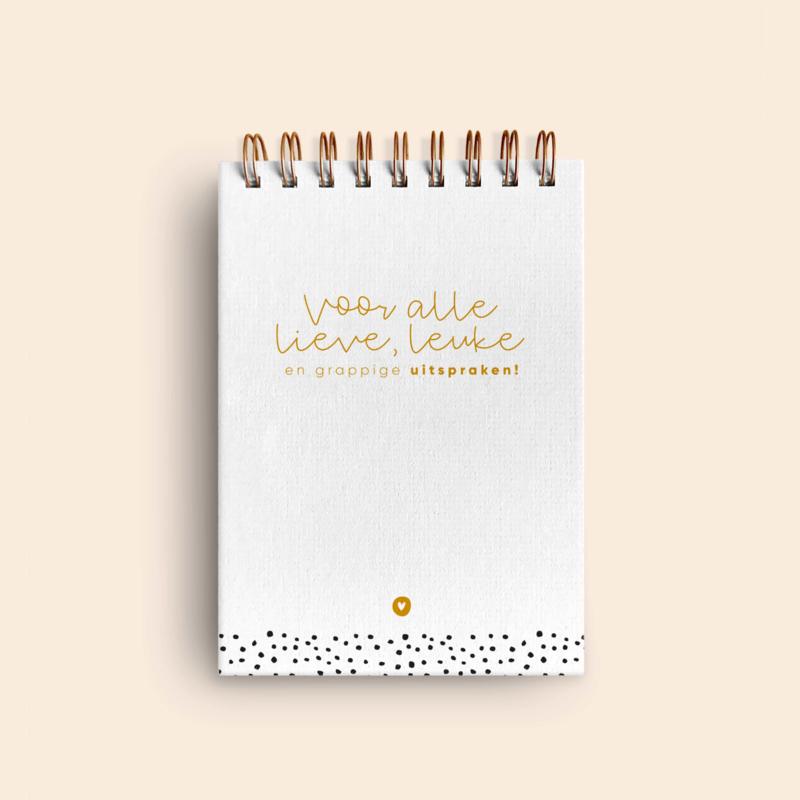 Uitsprakenboekje • Zwart/wit & goud