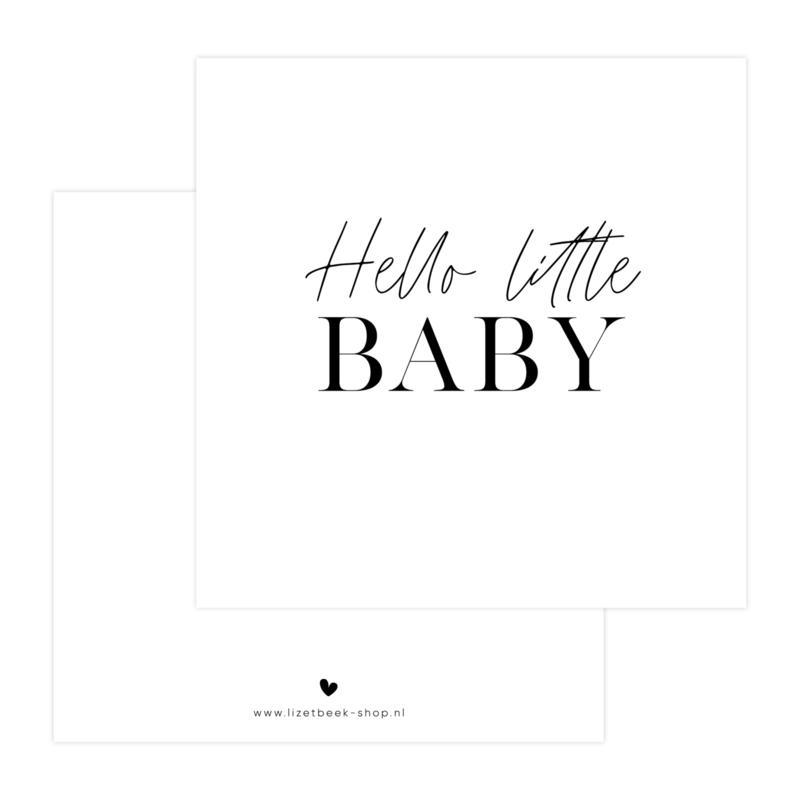 Dubbele Kaart • Hello little baby
