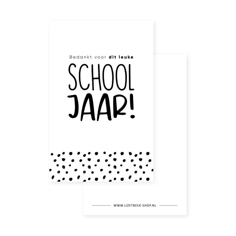 Minikaartje 85x55 • Bedankt voor dit leuke schooljaar!