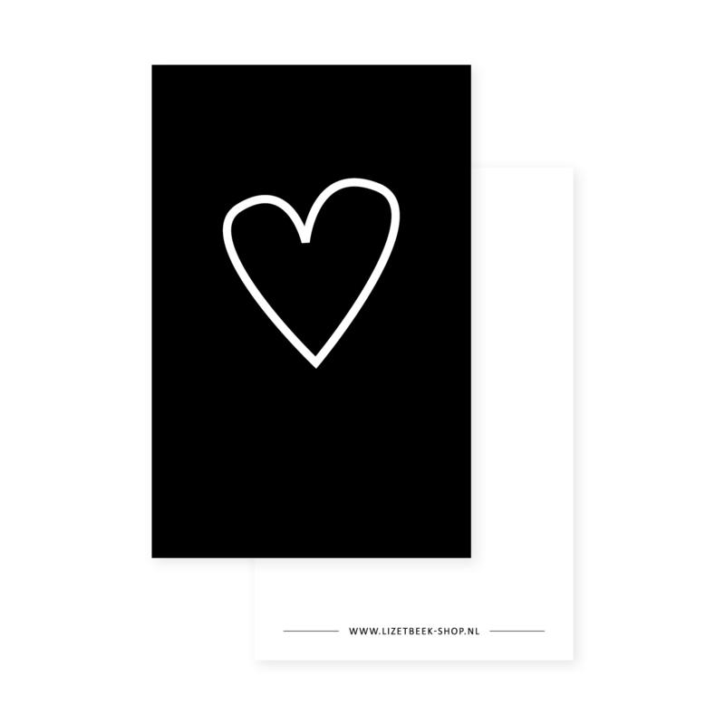 Minikaartje 85x55 • Hart lijn