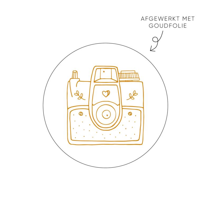 Sticker Camera • Rol 500 stuks • ø40mm