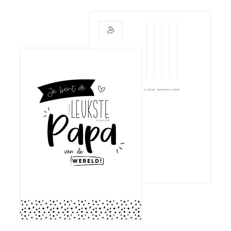 A6 Kaart • Je bent de liefste leukste stoerste papa van de wereld!