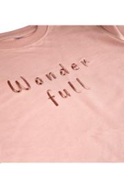 "Sweatshirt - Pink ""Wonderfull"""