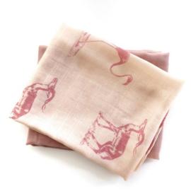 MaeMae- Hydrofieldoeken Misty Rose/Pink Animal