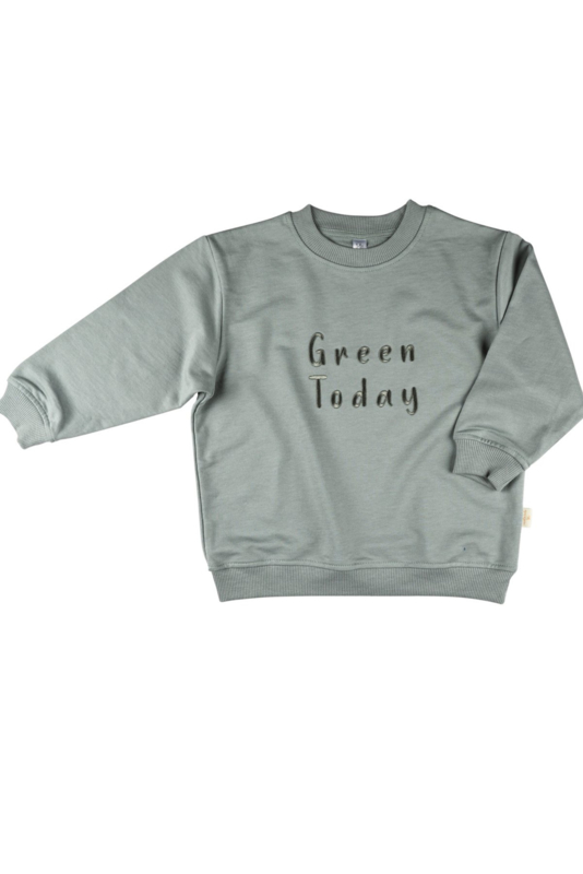 "Sweatshirt - Mint ""Green today"""