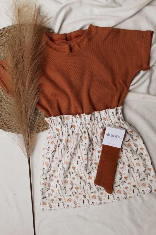 Paperbag skirt dryflower