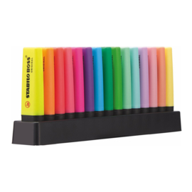 Stabilo Boss Original & Pastel – Deskset à 15 stuks