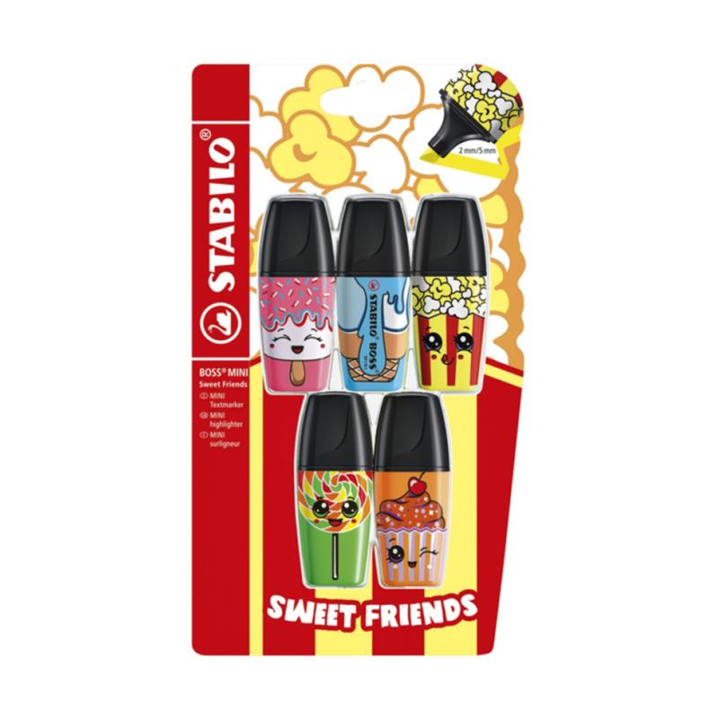 Stabilo Boss Mini Sweet Friends - Blister à 5 kleuren