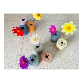 bloemenvaasje - roze