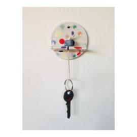 sleutelhouder - rond gespikkeld