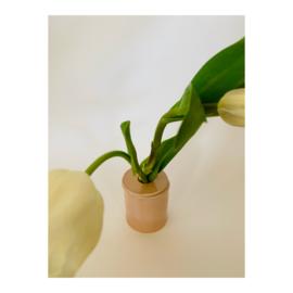 bloemenvaasje - rond roze