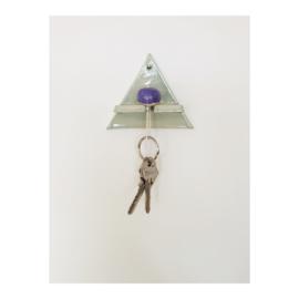 sleutelhouder - driehoek lichtgroen
