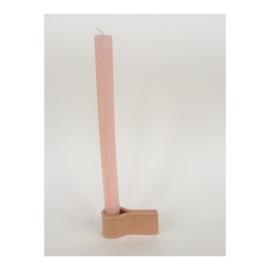 houder voor lange kaars - roze