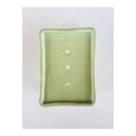 zeepschaaltje - rechthoek, groen