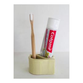 tandenborstelhouder - lichtgeel
