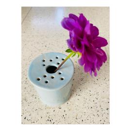 bloemenvaasje - lichtblauw