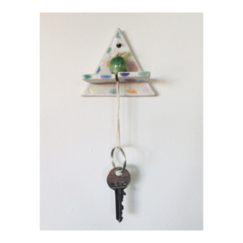 sleutelhouder - driehoek gespikkeld