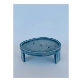 zeepschaaltje - ovaal, blauw