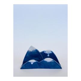kaartsteun - donkerblauwe bergen
