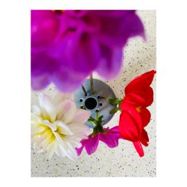 bloemenvaasje - blauw