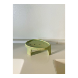 zeepschaaltje - ovaal, groen