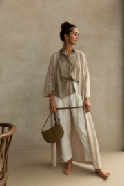 Farou half moon bag olive - Monk & Anna