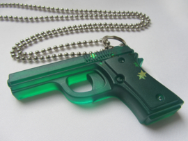 Ketting 'GUN' groen - Glitterator