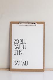 Poster Jij, ik, wij - WOORDkunsten