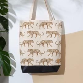 Tote bag leopard - Annet Weelink Design