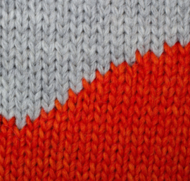 Kussen KIWI VOGEL grijs oranje - FLINK