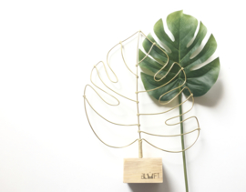Monstera blad goud - BLUFT