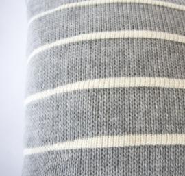Kussen WINDVAL grijs wit - FLINK