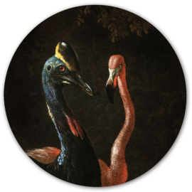 Muursticker 'Cassowary and friend' - Groovy Magnets