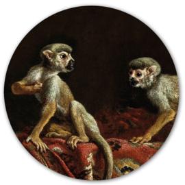 Muursticker 'Two little monkeys' - Groovy Magnets