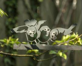 Metalen Huismus trio - Birdwise