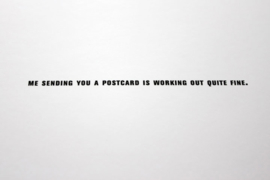 Set van 5 ansichtkaarten met BERICHT #07 - Carolina Koster