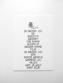 Poster 'Ik Droom Jou'- WOORDkunsten