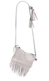 Festival bag fringe kalkwit - Rockin 'Items