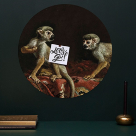 Muursticker 'Two little monkeys' - Groovy Magnets