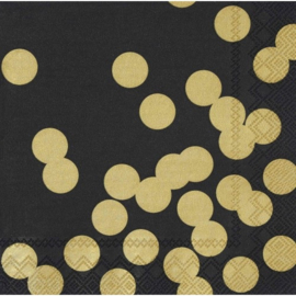 Servetten gold dots large - Räder