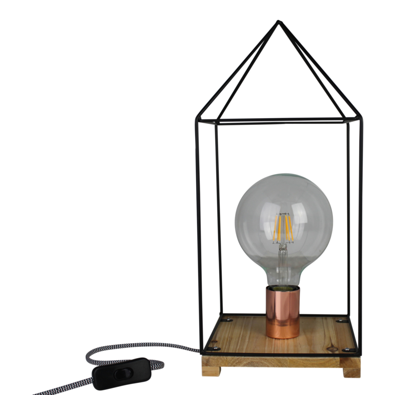 House lamp zwart metaal -Housevitamin