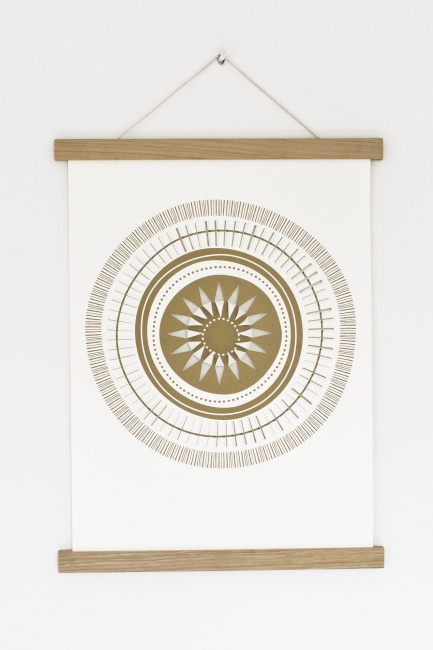 Magnetische poster lijst hout