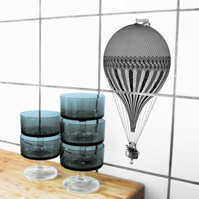 Tegelsticker Montgolfière (luchtballon) - Boubouki